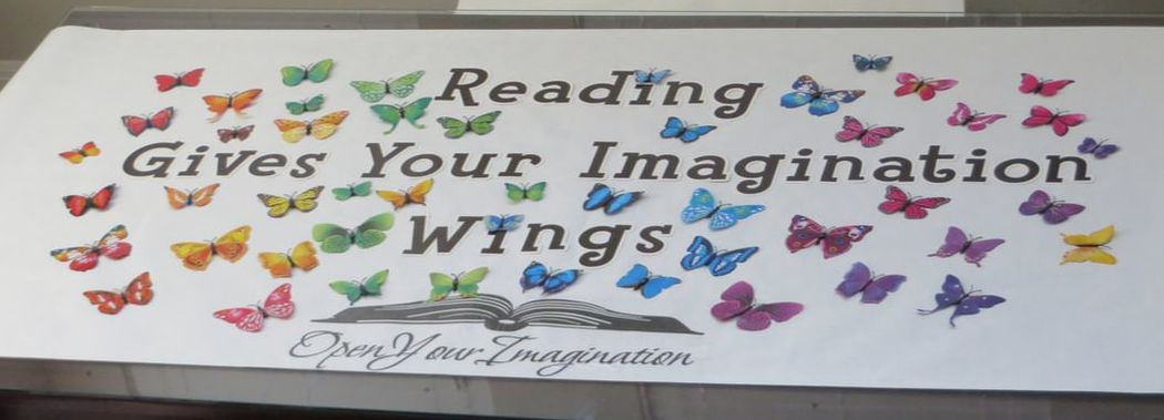 Butterfly Poster: Reading Gives Your Imagination Wings